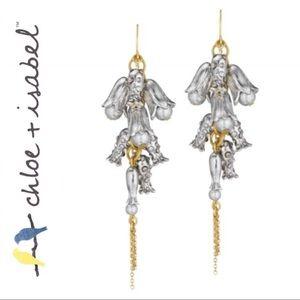 VINTAGE C+I💛 Bellflower + Pearl Cluster Ear E139T